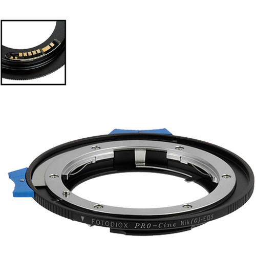 FotodioX Pro Lens Mount Adapter with Generation v10 Focus Confirmation Chip for Nikon F-Mount, G-Type Lens to Canon EF or EF-S Mount Camera
