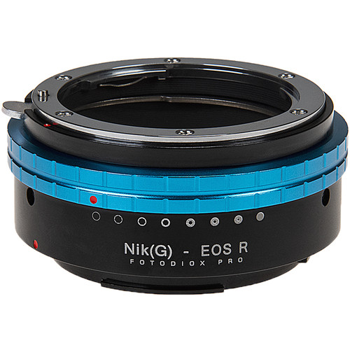 FotodioX Pro Lens Mount Adapter for Nikon Nikkor F Mount G Type D/SLR Lenses to Canon RF Mount
