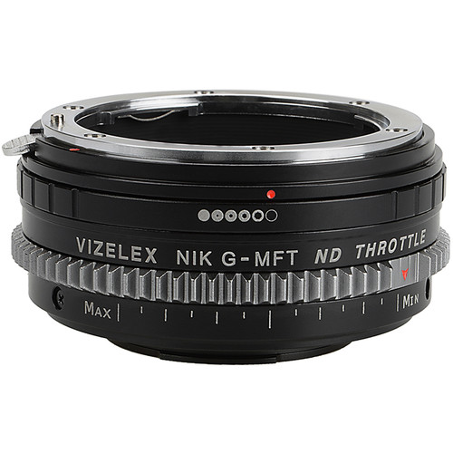FotodioX Vizelex Cine ND Throttle Adapter-Nikon Nikkor F Mount G-Type D/SLR Lens to Micro Four Thirds Mount