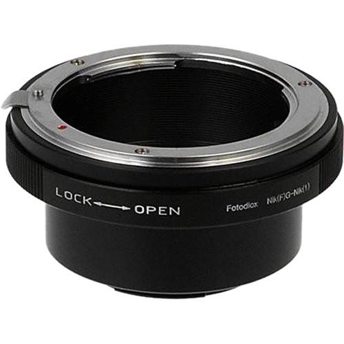 FotodioX Lens Mount Adapter for Nikon G-Type F-Mount Lens to Nikon 1-Series Camera