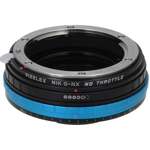 FotodioX Nikon F Lens to Samsung NX-Mount Camera Vizelex ND Throttle Adapter