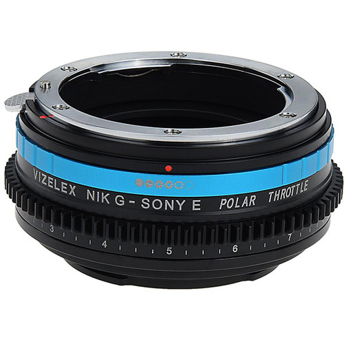 FotodioX Nikon F Lens to Sony E-Mount Camera Vizelex Polar Throttle Adapter