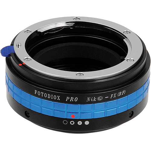 FotodioX Nikon G Pro Lens Adapter with Built-In Iris Control for Fujifilm X-Mount Cameras