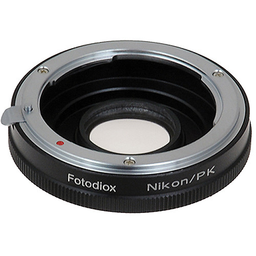 FotodioX Pro Lens Mount Adapter for Nikon F Lens to Pentax K Mount Camera