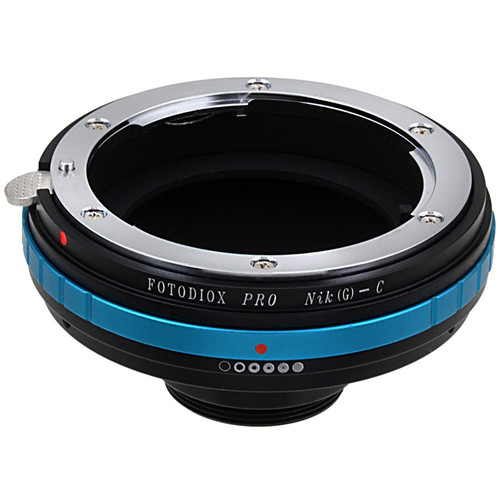 FotodioX Nikon G to C-Mount Pro Lens Mount Adapter with Aperture-Control Dial