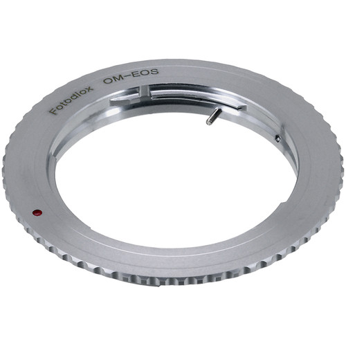FotodioX Mount Adapter with Focus Confirmation Chip for Olympus OM-Mount Lens to Canon EOS Camera