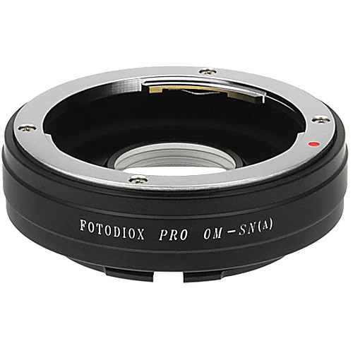 FotodioX Pro Lens Mount Adapter for Olympus OM Lens to Sony A Mount Camera