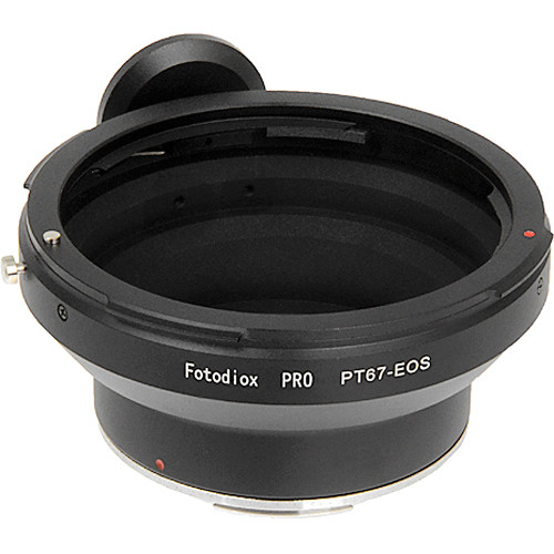 FotodioX Pro Lens Mount Adapter for Pentax 67 Lens to Canon EF Mount Camera with Dandelion Focus Confirmation Chip