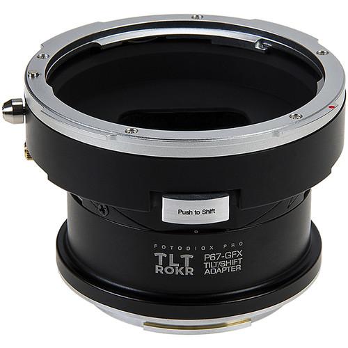 FotodioX Pro TLT ROKR Tilt-Shift Lens Mount Adapter for Pentax 6x7 Mount Lens to Fujifilm G-Mount GFX Camera