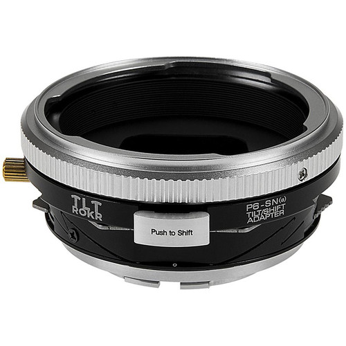 FotodioX Pro TLT ROKR Tilt/Shift Lens Mount Adapter for Pentacon 6 (Kiev 66) Lens to Sony A-Mount Camera