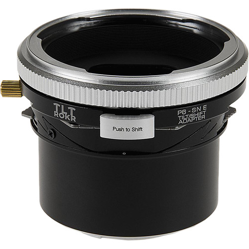 FotodioX Pro TLT ROKR Tilt-Shift Adapter for Pentacon 6 Lens to Sony E Camera