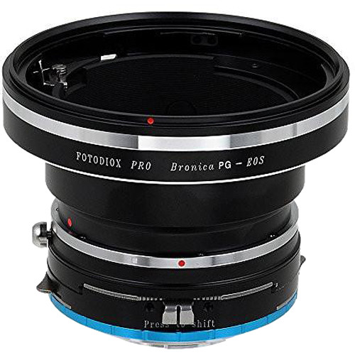FotodioX Pro Shift Mount Adapter for Bronica GS-1/PG Lens to Fujifilm X-Mount Camera