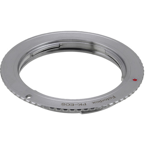 FotodioX Lens Mount Adapter with Generation v10 Focus Confirmation Chip for Pentax K-Mount Lens to Canon EF-S Mount Camera