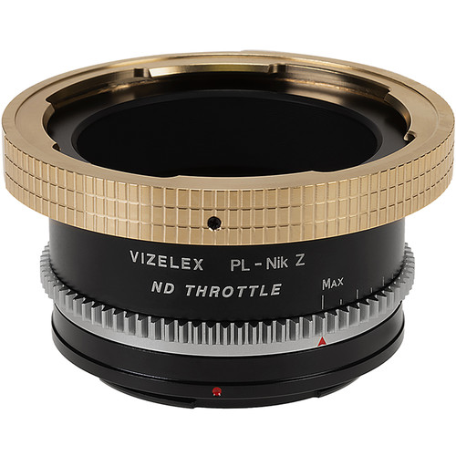 FotodioX Vizelex ND Throttle Lens Mount Adapter-Arri PL Mount Lens To Nikon Z-Mount Mirrorless Camera Body