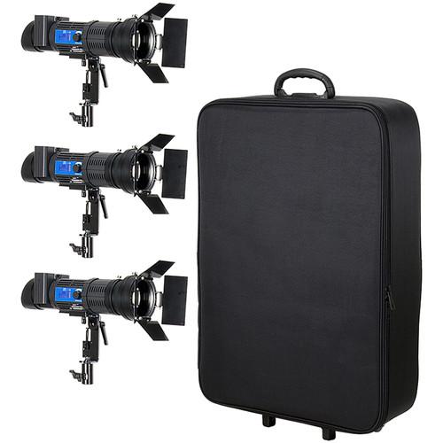 FotodioX Pro Popspot Ultra 50 Bi-Color LED 3-Light Kit with Rolling Case