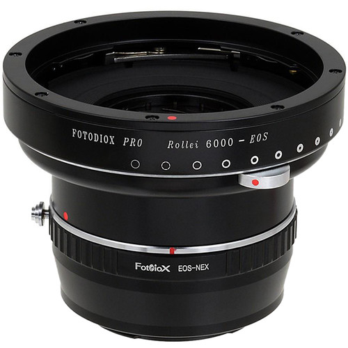 FotodioX Pro Lens Mount Double Adapter for Rollei 6000 and Canon EOS Lenses to Sony Alpha E-Mount