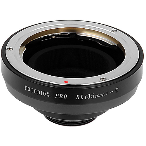 FotodioX Rollei 35mm Pro Lens Adapter with Built-In Iris for C-Mount Cameras