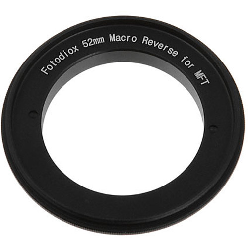 FotodioX 52mm Reverse Mount Macro Adapter Ring for Micro Four Thirds-Mount Cameras