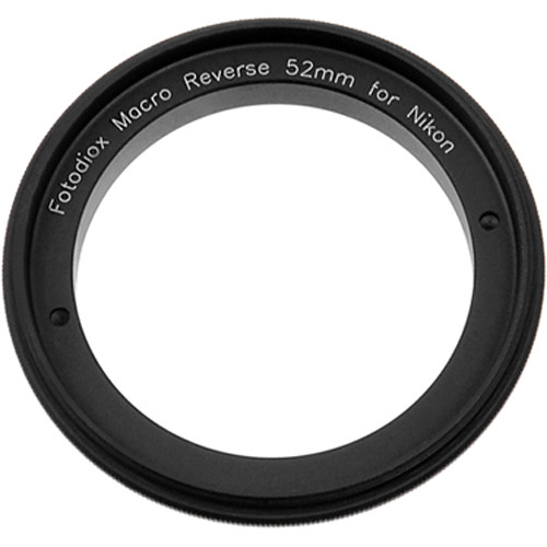 FotodioX 52mm Reverse Mount Macro Adapter Ring for Nikon F-Mount Cameras