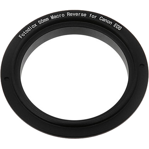FotodioX 55mm Reverse Mount Macro Adapter Ring for Canon EF-Mount Cameras