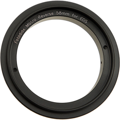 FotodioX 58mm Reverse Mount Macro Adapter Ring for Canon EOS-Mount Cameras