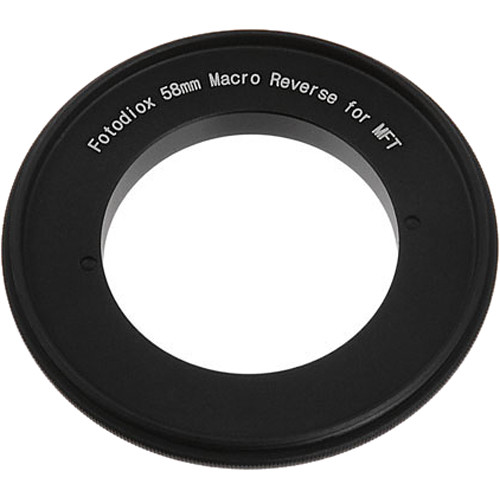 FotodioX 58mm Reverse Mount Macro Adapter Ring for Micro Four Thirds-Mount Cameras