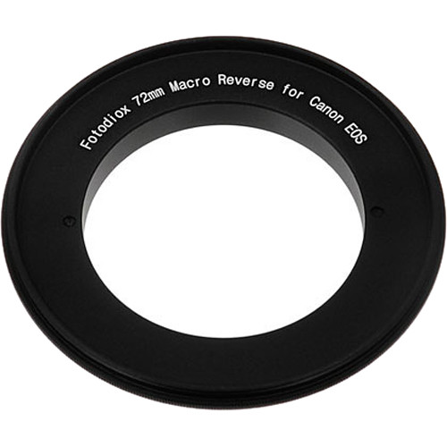 FotodioX 72mm Reverse Mount Macro Adapter Ring for Canon EF-Mount Cameras