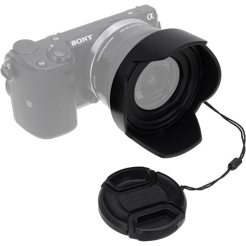 FotodioX Reversible Lens Hood Kit for Sony E PZ 16-50mm F3.5-5.6 OSS E-Mount Power Zoom Lens