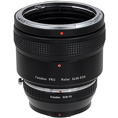 FotodioX Pro Lens Mount Double Adapter for Rollei SL66 and Canon EOS Lenses to Fuji X