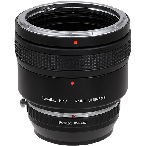 FotodioX Pro Lens Mount Double Adapter for Rollei SL66 and Canon EOS Lenses to Micro Four Thirds