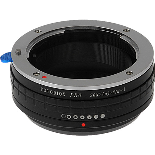 FotodioX Pro Mount Adapter with Aperture Control Dial for Sony A-Mount Lens to Nikon 1-Series Camera
