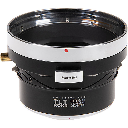 FotodioX Pro Tilt and Shift ROKR Lens Mount Adapter for Bronica ETR Lenses to Micro Four Thirds Camera Body