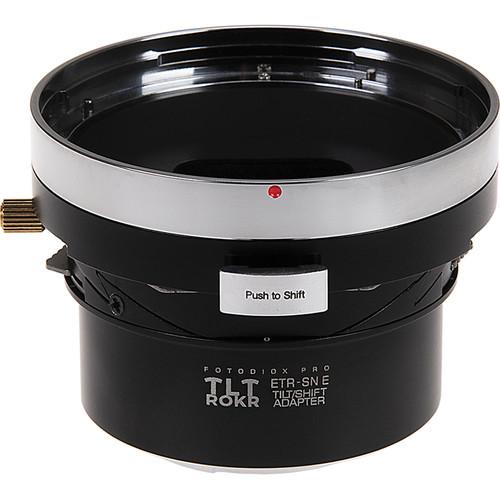 FotodioX Pro TLT ROKR Tilt/Shift Lens Mount Adapter for Bronica ETR Lens to Sony Alpha E-Mount Camera