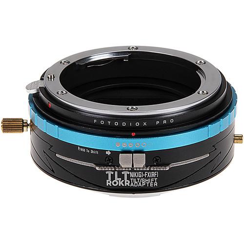FotodioX Pro TLT ROKR Tilt-Shift Adapter for Nikon F-Mount, G-Type Lens to FUJIFILM X-Mount Camera