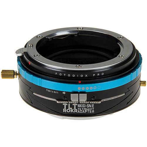 FotodioX Pro TLT ROKR Tilt-Shift Adapter for Nikon F Lens to Sony E Camera
