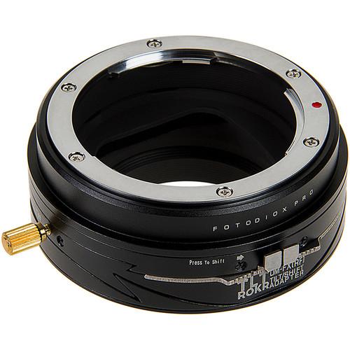 FotodioX Pro Tilt/Shift ROKR Lens Mount for Zuiko OM 35mm Lenses to Fujifilm Fuji X-Series Mirrorless Camera