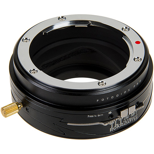 FotodioX Pro TLT ROKR Tilt-Shift Lens Mount Adapter for Olympus OM-Mount Lens to Micro Four Thirds Mount Camera