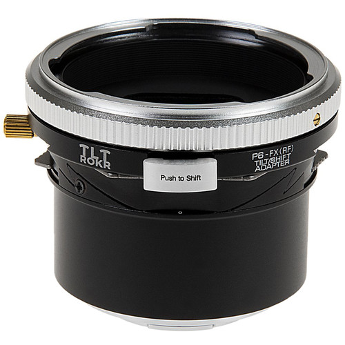 FotodioX Pro TLT ROKR Tilt/Shift Lens Mount Adapter for Pentacon 6 (Kiev 66) Lens to Fuji X-Mount Camera
