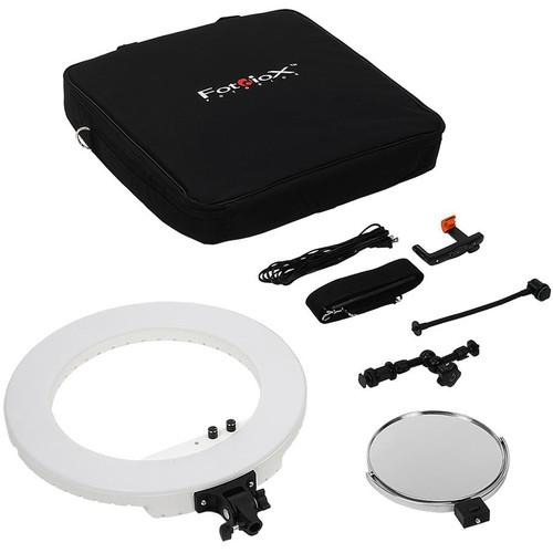 """FotodioX Selfie Starlite Vlog 18"""" Bi-Color Ringlight Kit (White)"""