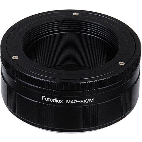 FotodioX M42 Screw-Mount Lens to Fujifilm X-Series Camera Adapter with Macro