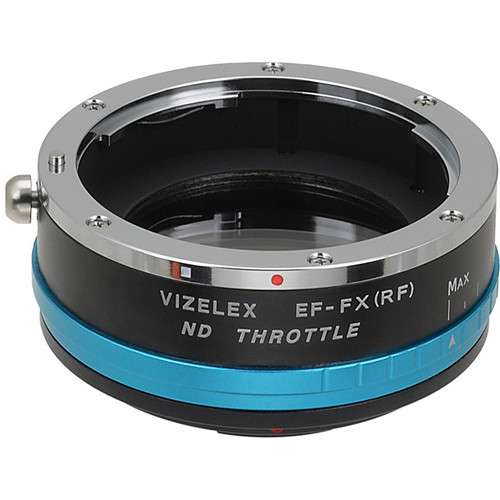 FotodioX Canon EF/EF-S Lens to Fujifilm X-Mount Camera Vizelex ND Throttle Adapter