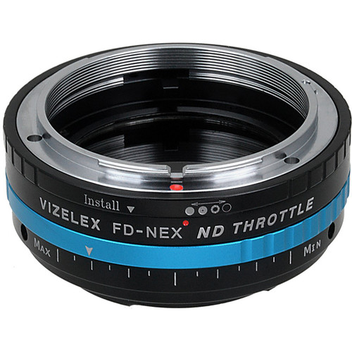 FotodioX Canon FD Lens to Sony E-Mount Camera Vizelex ND Throttle Adapter
