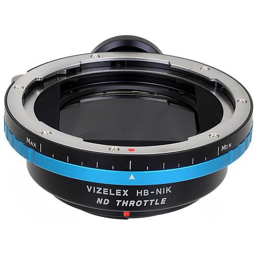 FotodioX Hasselblad V Lens to Nikon F Camera Vizelex ND Throttle Adapter