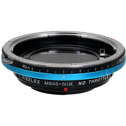 FotodioX Vizelex Pro ND Throttle Lens Mount Adapter for Mamiya 645-Mount Lens to Nikon F-Mount Camera