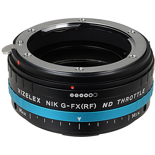 FotodioX Nikon F Lens to Fujifilm X-Mount Camera Vizelex ND Throttle Adapter