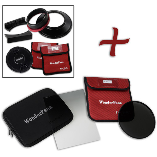 """FotodioX WonderPana FreeArc XL Core Unit Kit for Canon 11-24mm Lens with 186mm Slim, Solid Neutral Density 1.2 and 7.9 x 10.2"""" Soft-Edge Graduated Neutral Density 0.6 Filters"""