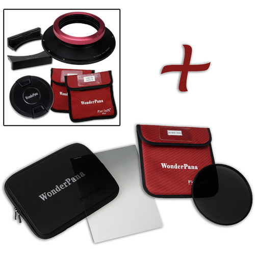 """FotodioX WonderPana FreeArc XL Core Unit Kit for Sigma 12-24mm Art Lens with 186mm Slim, Solid Neutral Density 1.2 and 7.9 x 10.2"""" Soft-Edge Graduated Neutral Density 0.6 Filters"""