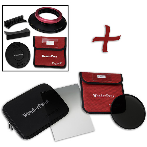 """FotodioX WonderPana FreeArc XL Core Unit Kit for Sigma 14-24mm Art Lens with 186mm Slim, Solid Neutral Density 1.2 and 7.9 x 10.2"""" Soft-Edge Graduated Neutral Density 0.6 Filters"""