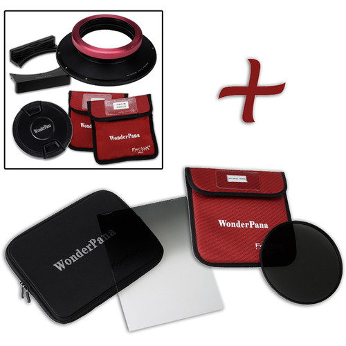 """FotodioX WonderPana FreeArc XL Core Unit Kit for Sigma 12-24mm Art Lens with 186mm Slim, Solid Neutral Density 1.2 and 7.9 x 10.2"""" Hard-Edge Graduated Neutral Density 0.9 Filters"""