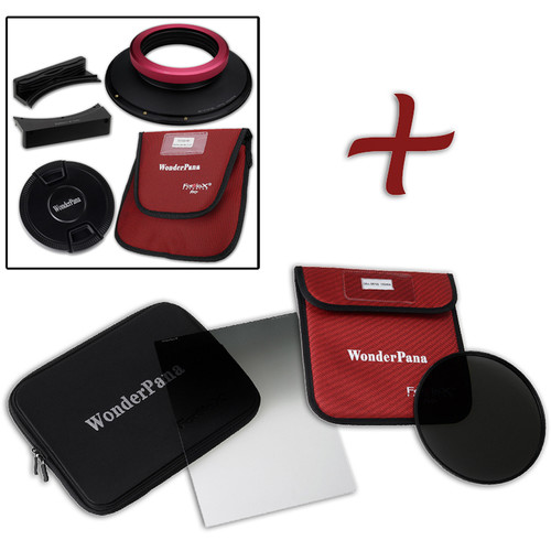 """FotodioX WonderPana FreeArc XL Core Unit Kit for Sigma 14mm Art Lens with 186mm Slim, Solid Neutral Density 1.2 and 7.9 x 10.2"""" Soft-Edge Graduated Neutral Density 0.9 Filters"""